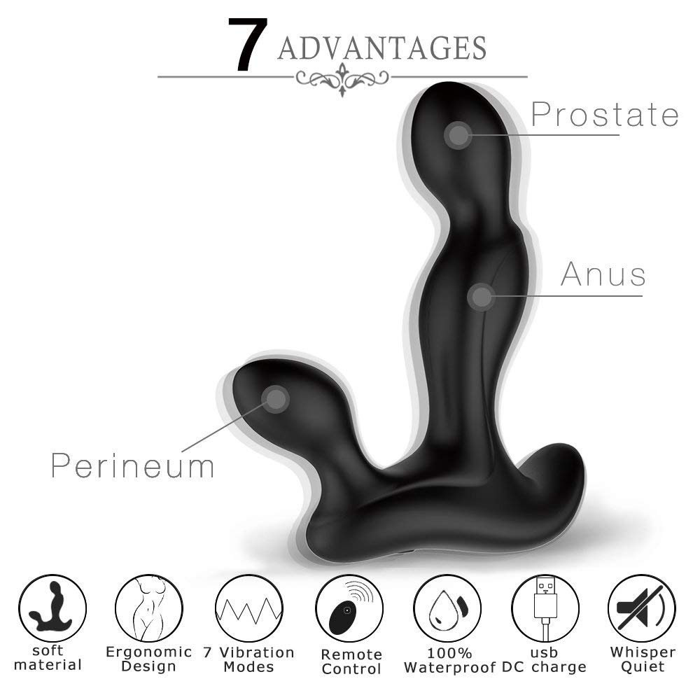 Adorime Vibrating Prostate Massager Anal Sex Toys with Wireless Remote Control
